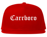 Carrboro North Carolina NC Old English Mens Snapback Hat Red