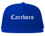 Carrboro North Carolina NC Old English Mens Snapback Hat Royal Blue