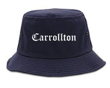 Carrollton Georgia GA Old English Mens Bucket Hat Navy Blue