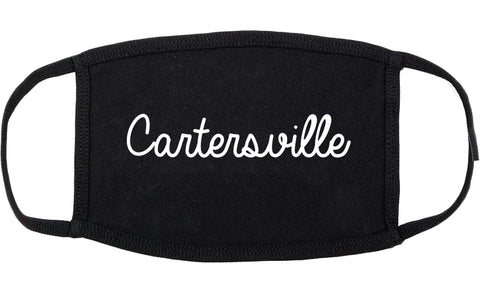 Cartersville Georgia GA Script Cotton Face Mask Black