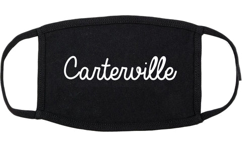 Carterville Illinois IL Script Cotton Face Mask Black