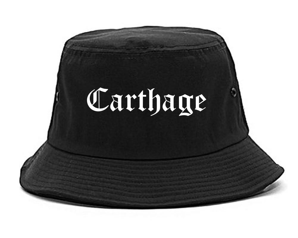 Carthage Missouri MO Old English Mens Bucket Hat Black
