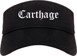 Carthage Missouri MO Old English Mens Visor Cap Hat Black