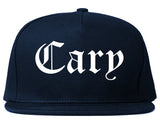 Cary Illinois IL Old English Mens Snapback Hat Navy Blue
