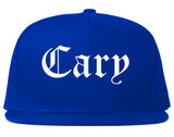 Cary Illinois IL Old English Mens Snapback Hat Royal Blue