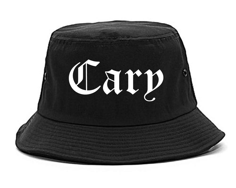Cary Illinois IL Old English Mens Bucket Hat Black