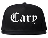Cary North Carolina NC Old English Mens Snapback Hat Black
