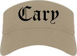 Cary North Carolina NC Old English Mens Visor Cap Hat Khaki