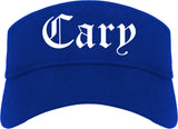 Cary North Carolina NC Old English Mens Visor Cap Hat Royal Blue