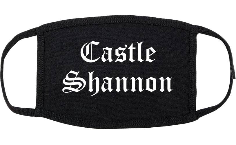 Castle Shannon Pennsylvania PA Old English Cotton Face Mask Black
