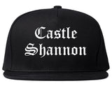 Castle Shannon Pennsylvania PA Old English Mens Snapback Hat Black