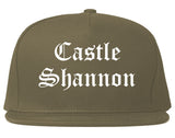 Castle Shannon Pennsylvania PA Old English Mens Snapback Hat Grey