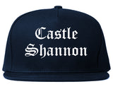 Castle Shannon Pennsylvania PA Old English Mens Snapback Hat Navy Blue