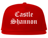 Castle Shannon Pennsylvania PA Old English Mens Snapback Hat Red