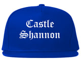 Castle Shannon Pennsylvania PA Old English Mens Snapback Hat Royal Blue