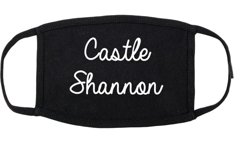 Castle Shannon Pennsylvania PA Script Cotton Face Mask Black