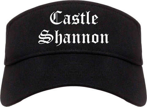 Castle Shannon Pennsylvania PA Old English Mens Visor Cap Hat Black