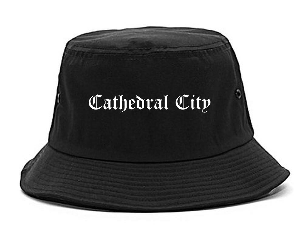 Cathedral City California CA Old English Mens Bucket Hat Black