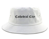 Cathedral City California CA Old English Mens Bucket Hat White