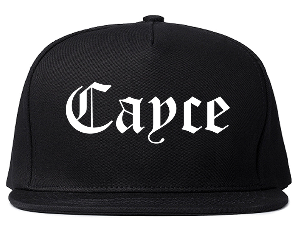 Cayce South Carolina SC Old English Mens Snapback Hat Black