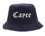 Cayce South Carolina SC Old English Mens Bucket Hat Navy Blue