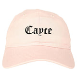Cayce South Carolina SC Old English Mens Dad Hat Baseball Cap Pink