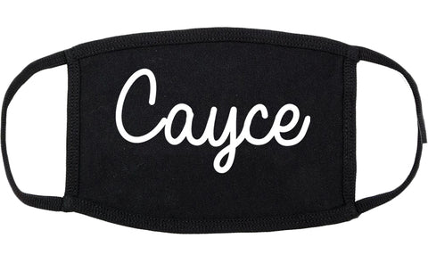 Cayce South Carolina SC Script Cotton Face Mask Black