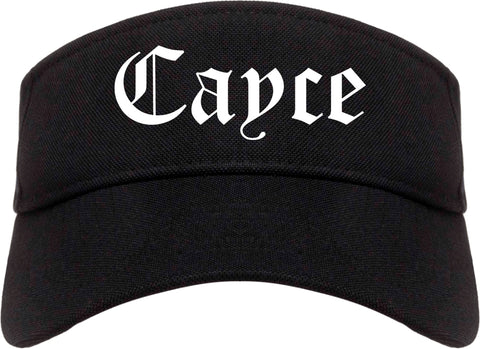 Cayce South Carolina SC Old English Mens Visor Cap Hat Black