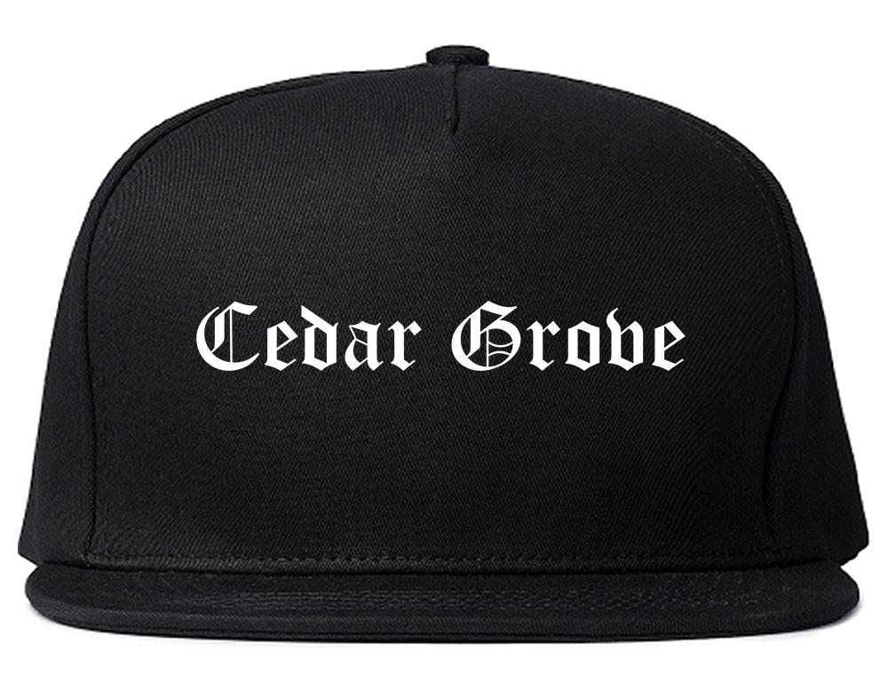 Cedar Grove Florida FL Old English Mens Snapback Hat Black