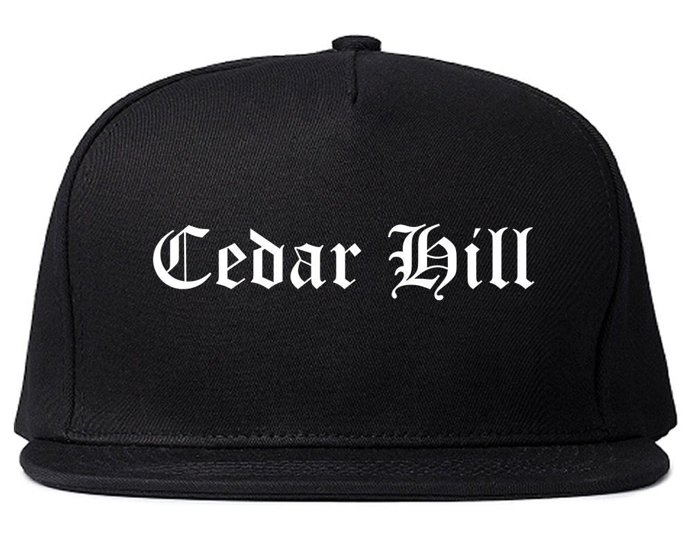 Cedar Hill Texas TX Old English Mens Snapback Hat Black