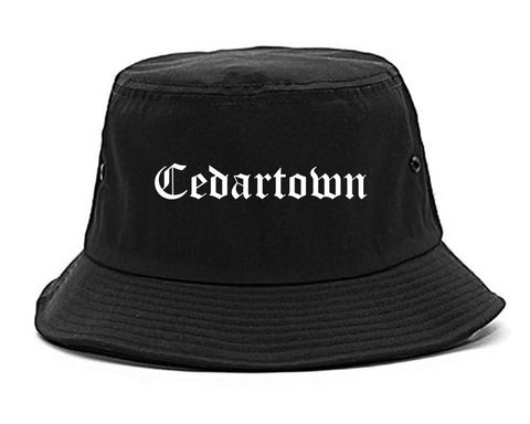 Cedartown Georgia GA Old English Mens Bucket Hat Black