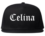 Celina Texas TX Old English Mens Snapback Hat Black