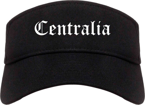Centralia Illinois IL Old English Mens Visor Cap Hat Black
