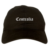 Centralia Washington WA Old English Mens Dad Hat Baseball Cap Black