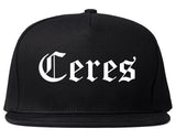 Ceres California CA Old English Mens Snapback Hat Black
