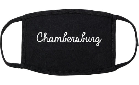 Chambersburg Pennsylvania PA Script Cotton Face Mask Black