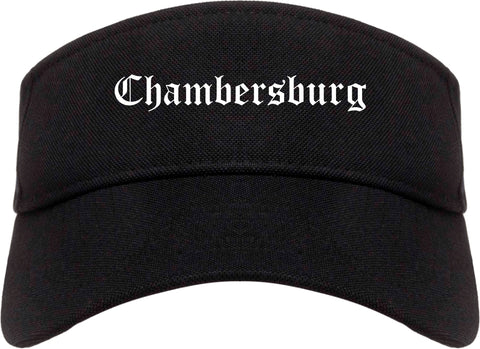 Chambersburg Pennsylvania PA Old English Mens Visor Cap Hat Black