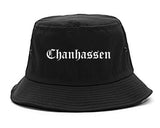 Chanhassen Minnesota MN Old English Mens Bucket Hat Black