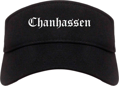 Chanhassen Minnesota MN Old English Mens Visor Cap Hat Black