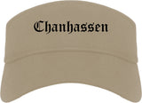 Chanhassen Minnesota MN Old English Mens Visor Cap Hat Khaki