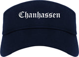 Chanhassen Minnesota MN Old English Mens Visor Cap Hat Navy Blue
