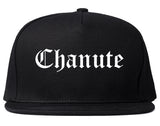Chanute Kansas KS Old English Mens Snapback Hat Black
