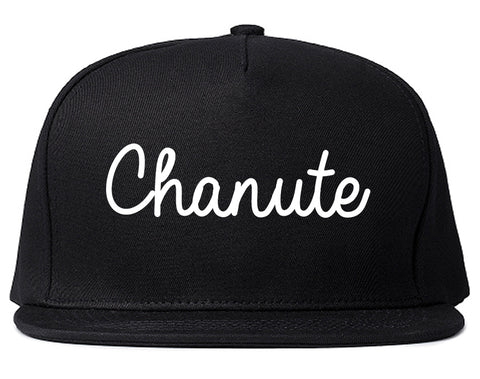 Chanute Kansas KS Script Mens Snapback Hat Black