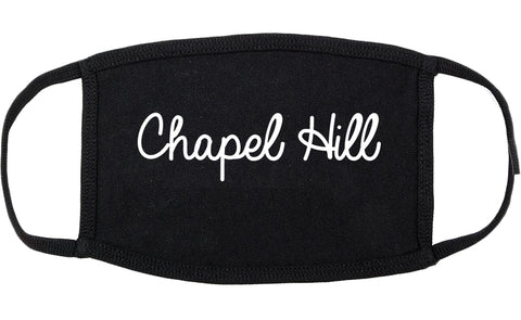 Chapel Hill North Carolina NC Script Cotton Face Mask Black