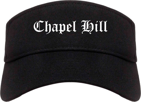 Chapel Hill North Carolina NC Old English Mens Visor Cap Hat Black