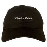 Charles Town West Virginia WV Old English Mens Dad Hat Baseball Cap Black