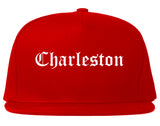 Charleston Illinois IL Old English Mens Snapback Hat Red