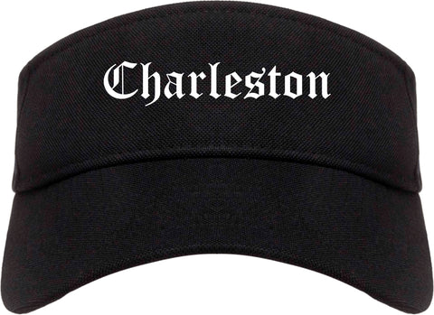 Charleston Illinois IL Old English Mens Visor Cap Hat Black