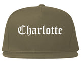 Charlotte Michigan MI Old English Mens Snapback Hat Grey