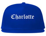 Charlotte Michigan MI Old English Mens Snapback Hat Royal Blue